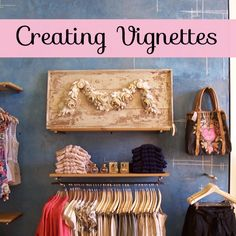 Creating vignettes throughout your boutique is an important visual merchandising element. It helps guide your customers around the entire store, weaving them through key displays and enticing them to spend. Flat Design, Ui Design, Design Ideas, Gift Shop Displays, Store Displays, Window Displays, The Farm, Visual Merchandising Displays, Visual Display