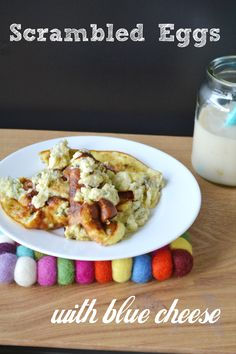 Scrambled Eggs με blue cheese - Craft Cook Love