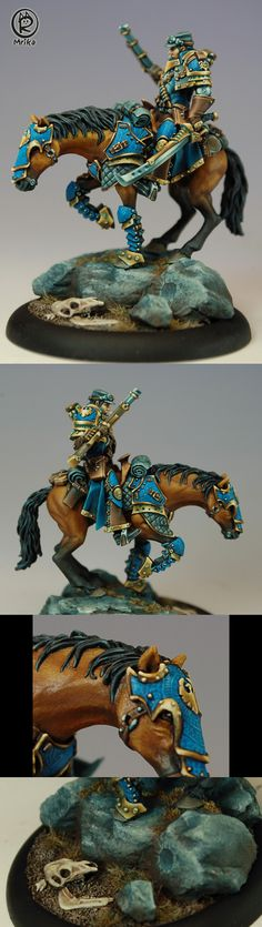 The details in the armor plates on the horse are incredible.