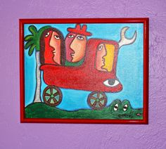 Jose Fuster Cuba 2013  Oil on Canvas  Purchased at his studio outside Havana