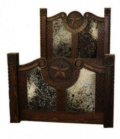 Prieta Grande Dark Cowhide Star | Rustic Furniture | Western Furniture