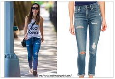 Olivia Wilde is wearing  A Gold E Sophie High Rise Skinny Dark Jeans. On Final sale at $124, used to be $158 USD.  - Best Dark Jeans as seen on Celbs