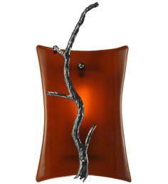 Meyda Tiffany 1 Light Metro Fusion Zweig Glass Wall Sconce