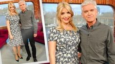 Holly Willoughby and Phillip Schofield - This Morning - ITV Phillip Schofield, Holly Willoughby, Fashion Studio, Presents, Take That, Board, How To Wear, Beauty, Tops
