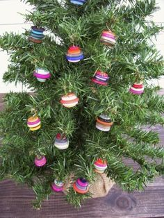 What the little button ornaments look like on the tree!