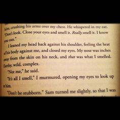 Maggie Stiefvater - shiver - in the chocolate place :) one of the cutest parts of the book