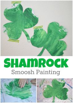 Creative Family Fun: Shamrock Smoosh Painting
