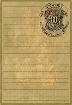 was looking for Hogwarts stationery and could not find any, so I made some. This is the first, just a plain letterhead.I was looking for Hogwarts stationery and could not find any, so I made some. This is the first, just a plain letterhead. Magie Harry Potter, Harry Potter Thema, Cumpleaños Harry Potter, Harry Potter Tumblr, Harry Potter Birthday, Harry Potter Writing, Harry Harry, Harry Potter Navidad, Harry Potter Weihnachten