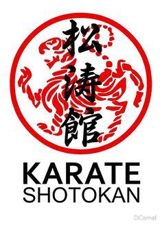 Karate Shotokan symbol and kanji  Available on shirts and more