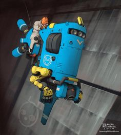 Flying industrial robo thing, Andre Mealha on ArtStation at http://www.artstation.com/artwork/flying-industrial-robo-thing