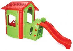 Aceasta casuță veselă cu tobogan va deveni rapid locul preferat al copiilor unde se vor distra toata ziua!Fabricată din material plastic de înaltă calitate, rezistent și durabil. Oferă spațiu suficient pentru a se juca simultan mai mulți copii. Dimensiuni: 220cm L x 112cm l x 131 cm h Produsele se pot comanda direct pe site, la telefon 0734 000 112 sau prin e-mail la comenzi@dmkids.ro . Slide, Happy House, Plastic