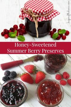 It's no secret that we get a little excited about fresh berries around here. And rightly so! They're not only absolutely delicious, but they're chock full of beneficial nutrients and antioxidants too! Here's how you can make your own berry preserves with HONEY instead of sugar!