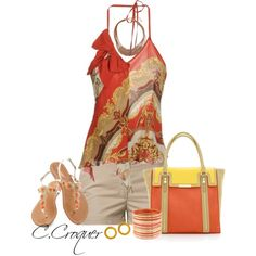 """""""Halter & Shorts"""" by ccroquer on Polyvore"""