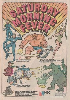 This ad comes from a 1978 Marvel Hanna-Barbera Flintstones comic book. Just look at the schedule NBC had for fall Saturday mornings. It doesn't get much better than a completely Hanna-Barbera Saturday. Funny Cartoon Pictures, Cartoon Photo, Cartoon Quotes, Cartoon Tv, Cartoon Characters, Book Characters, Saturday Morning Cartoons 80s, Old School Cartoons, Cool Cartoons