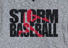 Hey, I found this really awesome Etsy listing at https://www.etsy.com/listing/242794502/baseball-team-shirt-storm-baseball-shown