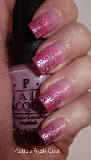Pink gradient with glitters