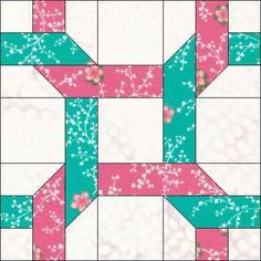 Paper piecing patterns - Two Ribbons Pieced Block Pattern – Paper piecing patterns Quilt Square Patterns, Paper Piecing Patterns, Quilt Block Patterns, Pattern Blocks, Square Quilt, Pattern Paper, Quilt Blocks, Strip Quilts, Easy Quilts