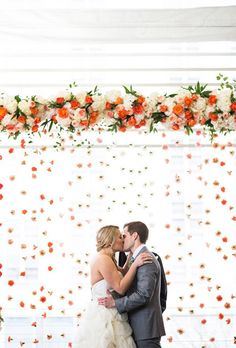 15 Flower Wall Ideas from Real Weddings (For Perfect Photos!) | Brides.com