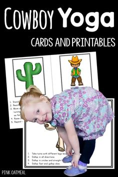Cowboy themed gross motor activities! Perfect activities for a cowboy theme! I love all the different gross motor moves and poses with a cowboy theme. Great for preschool and up!