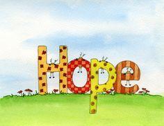 Hope - Watercolour by Sandra Herrgott