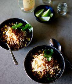 Australian Gourmet Traveller recipe for esquites by Sam Ward from Perth's El Publico restaurant.