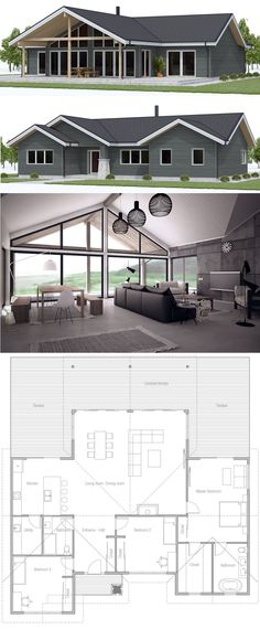 Small House Plan, Home Plan, Floor Plans, Architecture, New Home Plans