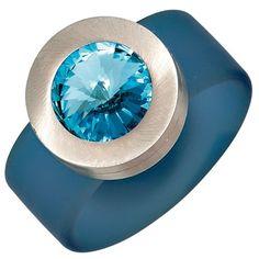 """Dreambase Damen-Ring """"Swarovski"""" PVC hellblau mit Edelsta... https://www.amazon.de/dp/B00EYH2UAS/?m=A37R2BYHN7XPNV"""