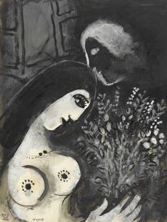 Marc Chagall La Belle aux fleurs, 1950 gouache and brush and India ink on paper Marc Chagall, Watercolor Paintings Abstract, Watercolor Artists, Abstract Oil, Painting Art, Modigliani, Chagall Paintings, Oil Paintings, Landscape Paintings