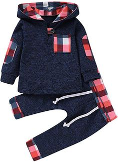 462dcb44291 Amazon.com  GObabyGO Infant Toddler Boys Girls Sweatshirt Set Winter Fall  Clothes Outfit 0