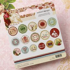 Websters Pages - A Christmas Story Collection - Chipboard Stickers - Buttons and Twine at Scrapbook.com