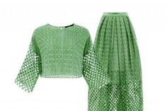 Olivia's Must Have: Tibi Eyelet Top and Skirt