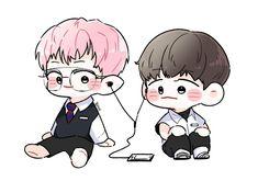 Chanbaek Fanart, Baekhyun Fanart, Exo Chanbaek, Kyungsoo, Chanyeol, Exo Cartoon, Exo Anime, Easy Doodle Art, Exo Fan Art