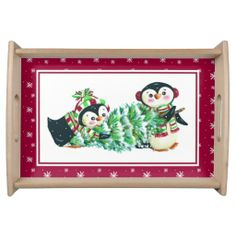 Penguin Tray-Christmas Serving Platters