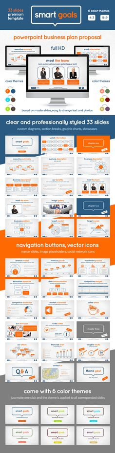 Buy Smart Goals PowerPoint Template by Swanatee on GraphicRiver. Business Plan Proposal Template – stylish, clear and very corporate Professional presentation template with 6 differe. Cool Powerpoint, Powerpoint Presentation Templates, Keynote Template, Powerpoint 2010, Powerpoint Presentations, Business Plan Proposal, Business Planning, Goals Template, Presentation Design