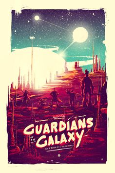 Guardians of the Galaxy poster by marie Bergeron