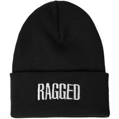 **Ragged Beanie by The Ragged Priest (1,075 PHP) ❤ liked on Polyvore featuring accessories, hats, beanies, black, black beanie hat, beanie hats, black hat and black beanie