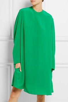 Balenciaga   Crepe de chine dress   NET-A-PORTER.COM