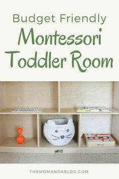 How to design a toddler bedroom, inspired by the Montessori lifestyle and stay within a limited budget. This article provides in-depth details to create an entire Montessori toddler space including closet and bathroom areas. Preschool Classroom Layout, Preschool Rooms, Montessori Toddler Bedroom, Montessori Toys, Baby Animal Nursery, Bedroom Accessories, Baby Bedroom, Creative Kids, Toddler Activities
