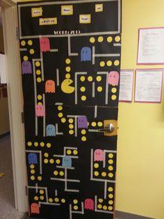 Pacman classroom door