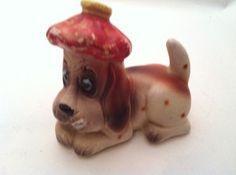 Antique Dog Shaker - Sick Puppy - Made in Japan