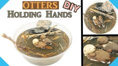 DIY MINIATURE OTTERS HOLDING HANDS Environment Resin & Polymer clay tuto...