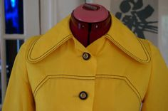 vintage 60s 70s yellow raincoat dog ear by dieyoungstaypretty