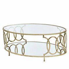 Wohnzimmer Couchtisch In Goldfarben Glas Jetzt Bestellen Unter: ...