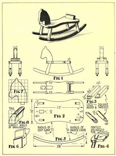 Wooden Rocking Horse Plan
