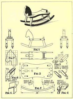 Wooden Rocking Horse Plan