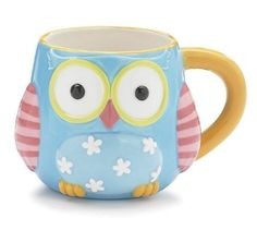 "Amazon.com: Whimsical Owl Coffee Mug/cup With ""Life's A Hoot"" Printed On Back Of Mug: Kitchen & Dining"