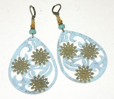 Large Filigree Teardrop Earrings, Antique Bronze, Hand Painted by groovychickjewelry, $15.50