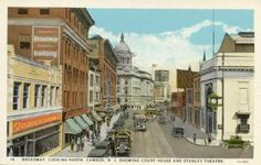 Old post card of Broadway in Camden, NJ. This was a popular place for people in Camden, and outside of Camden to go shopping before the advent of malls.