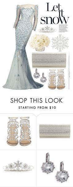 """Let it go."" by shanelala ❤ liked on Polyvore featuring Sergio Rossi, Jimmy Choo, Monsoon, Anzie, Oliver Gal Artist Co. and Stila"