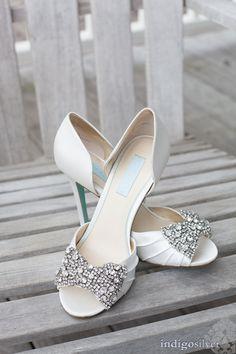 Stunning sparkling heels: http://www.stylemepretty.com/north-carolina-weddings/wilmington-nc/2014/11/24/romantic-north-carolina-wedding-at-the-atrium/   Photography: Indigosilver - indigosilverstudio.com